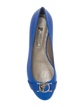 Leather Flat by Versace Collection