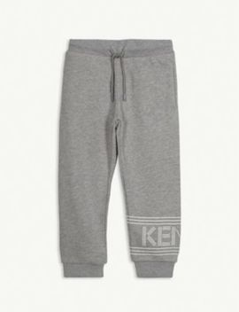 Logo Cotton Jogging Bottoms 4 14 Years by Kenzo