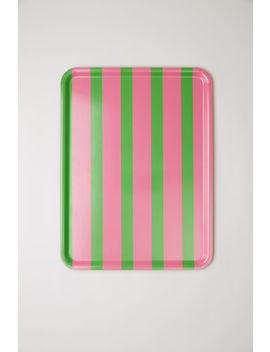 Gestreiftes Tablett Im Blockfarben Design Blau Multi by Acne Studios
