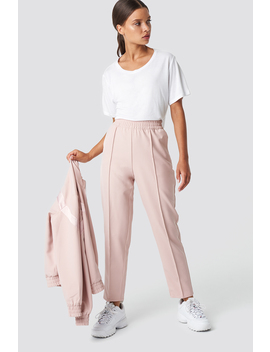 Elastic Waist Seamline Pants Rose by Na Kd