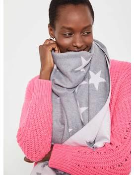 Blush Pink & Grey Star Scarf by Mint Velvet