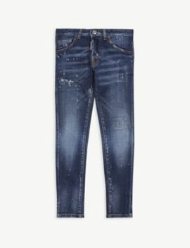 Distressed Skinny Fit Jeans by Dsquared2