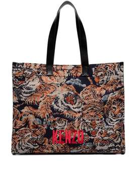 Tiger Embroidered Tote Bag by Kenzo