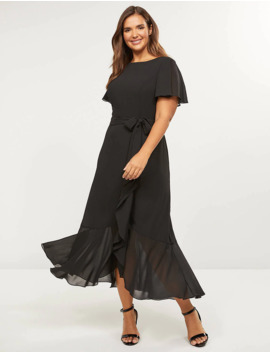 Flutter Sleeve Midi Dress by Lane Bryant