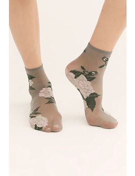 Rosie Sheer Anklet Socks by Free People