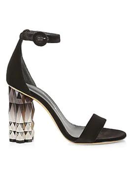 Azalea Embellished Heel Sandals by Salvatore Ferragamo
