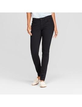 Women's Mid Rise Curvy Skinny Jeans   Universal Thread™ Black Wash by Universal Thread