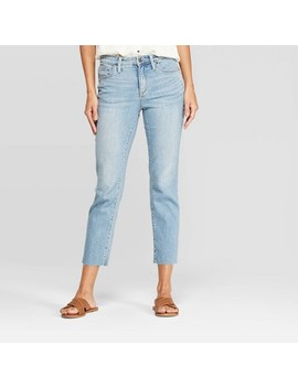 Women's Relaxed Fit High Rise Cropped Straight Jeans   Universal Thread™ Light Wash by Universal Thread