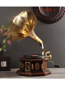 Antique Hmv Gramophone Fully Functional Vintage His Master Voice Record Player Hand Made by Etsy