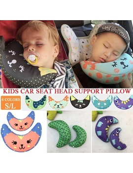 S/L Children Car Seat Belt Cover Shoulder Support Pillow Baby Sleeping Neck Pillows Shoulder Pad Headrest For Kids 6 Colors by Wish