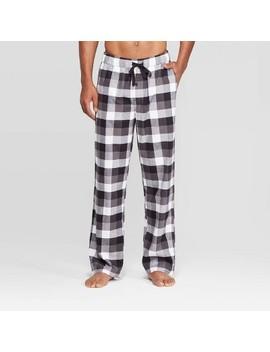 Men's Plaid Flannel Pajama Pants   Goodfellow & Co™ Black by Goodfellow & Co