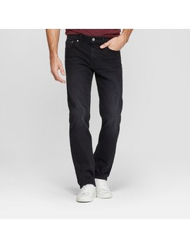 Men's Slim Straight Fit Brushed Back Jeans   Goodfellow & Co™ Black by Goodfellow & Co