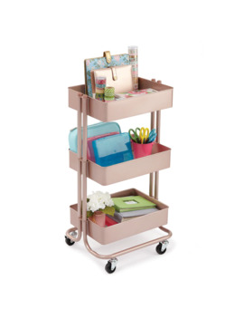 Rose Gold Lexington 3 Tier Rolling Cart By Recollections™ by Recollections
