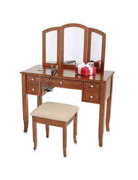 Charlotte 2 Piece Vanity Set With Power Strip And Usb by Simple