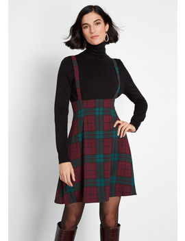 Overall Winner Plaid Jumper by Modcloth