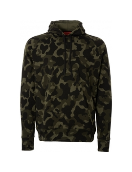 Dayfun Oversized Hooded Sweatshirt   Open Camo by Hugo