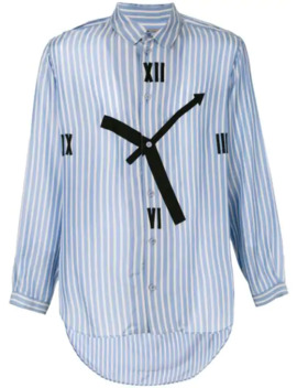 Clock Pinstriped Shirt by Yohji Yamamoto Pre Owned
