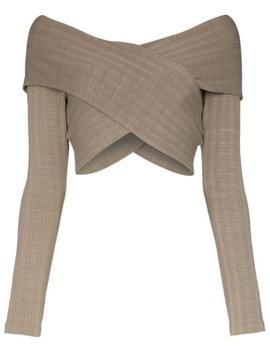 Noemi Wrap Style Crop Top by Mara Hoffman