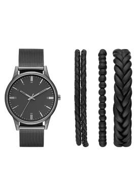Men's Mesh Strap Watch Set   Goodfellow & Co™ Black by Goodfellow & Co