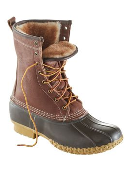 """Men's Bean Boots By L.L.Bean®, 10"""" Tumbled Leather Shearling Lined by L.L.Bean"""