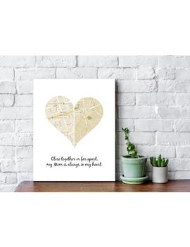 Heart Of Two Places Map, Heart Map For Long Distance Gift, Dad Gift, Personalized Christmas Gift, Map Gift For Family, Canvas Print   68177 by Etsy