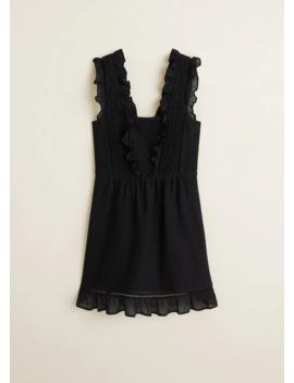 Φόρεμα κοντό βολάν by Mango