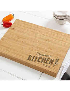 Her Kitchen Personalized Bamboo Cutting Board by Bed Bath And Beyond