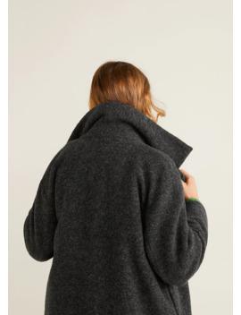 Παλτό παρθένο μαλλί χαλαρή γραμμή by Mango