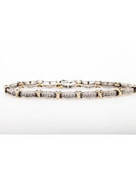 Estate $5000 2ct Diamond 10k Gold Kisses Tennis Bracelet 12g by Ebay Seller