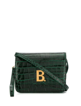 Logo Plaque Crocodile Effect Cross Body Bag by Balenciaga
