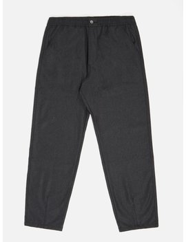Universal Works Track Trouser In Charcoal Flannel by Universal Works