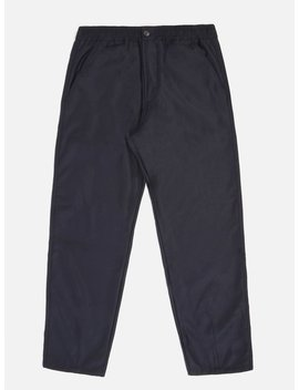 Universal Works Track Trouser In Navy Flannel by Universal Works