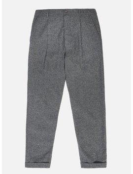 Universal Works Pleated Pant In Grey Wool Marl by Universal Works
