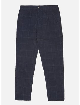 Universal Works Military Chino In Navy Patchwork Cord by Universal Works