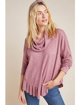 Addie Ruffled Hacci Pullover by Maeve