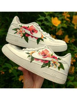 Hand Painted Air Force 1 Trainers  Custom Floral Design by Etsy