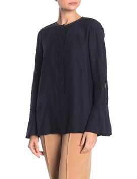 Izzie Split Sleeve Silk Blouse by Lafayette 148 New York