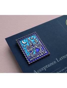 Harry Potter Inspired Hogwarts Stamp Enamel Pin by Etsy