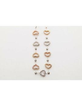 "Designer $5000 2ct Diamond 14k Rose White Yellow Gold Heart 17"" Necklace by Ebay Seller"