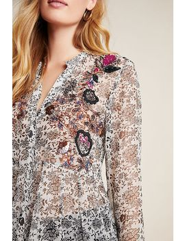 Ronan Embroidered Babydoll Blouse by Maeve