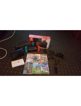 Nintendo Switch (Blau/Rot) Konsole Mit 6 Spiele +Alle Kabel Mit Dabei by Ebay Seller