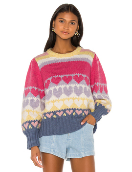 Shirelle Pullover In Pink Icing by Love Shack Fancy