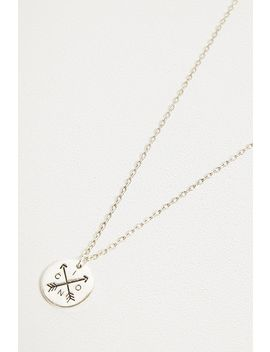 Icon Brand Take Aim Silver Necklace by Icon Brand