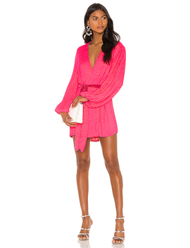 X Revolve Gabrielle Robe Dress In Pink Ultra by Retrofete
