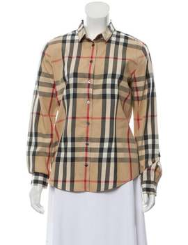 Nova Check Button Up Top by Burberry Brit