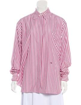 Striped Button Up Top by Victoria Beckham