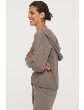 Kaszmirowy Sweter Z Kapturem by H&M