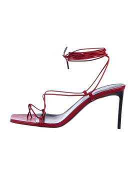 Leather Wrap Around Sandals by Saint Laurent