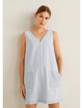 Sukienka Denim Z Kieszeniami by Mango