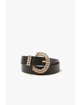 Rhinestone Buckle Belt by Forever 21